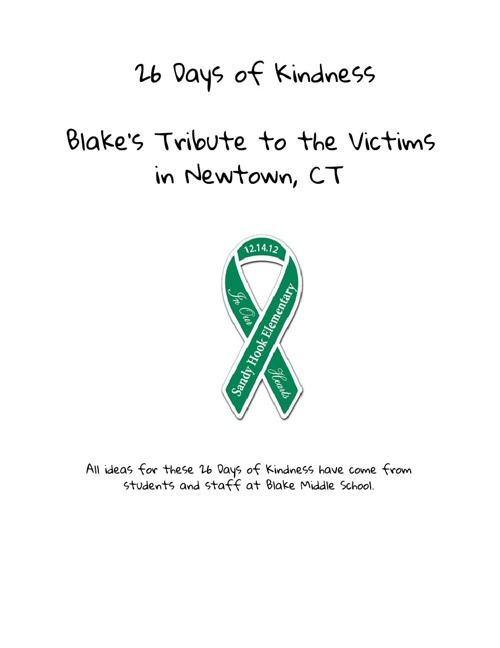 26 Days of Kindness: Tribute to Sandy Hook