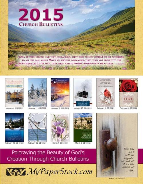 Church Bulletin Flyer for 2015