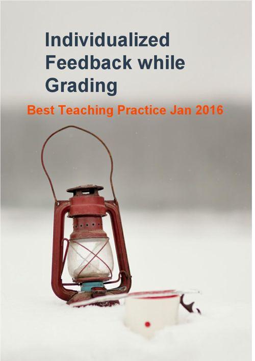 Individualized feedback