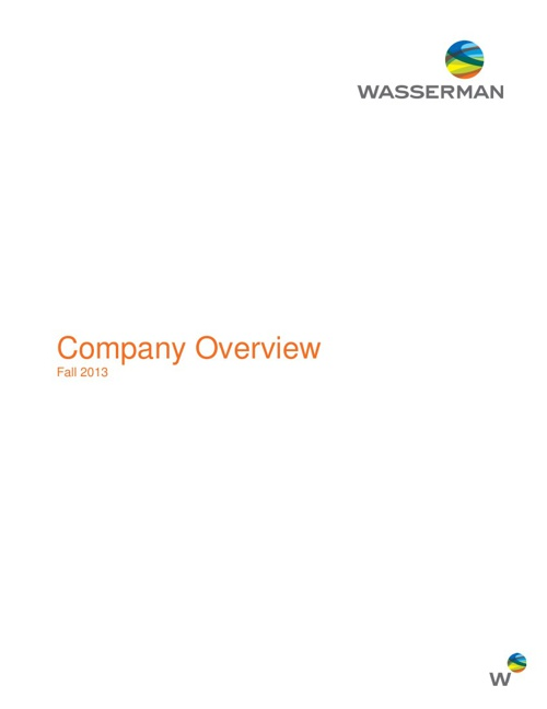 Corporate Overview - Fall 2013