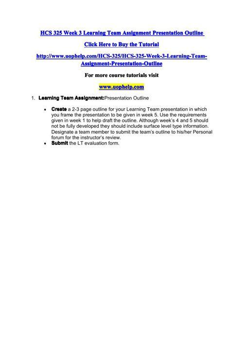HCS 325 Academic Coach/uophelp