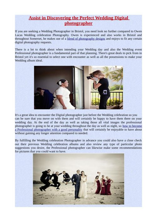 Assist in Discovering the Perfect Wedding Digital photographer