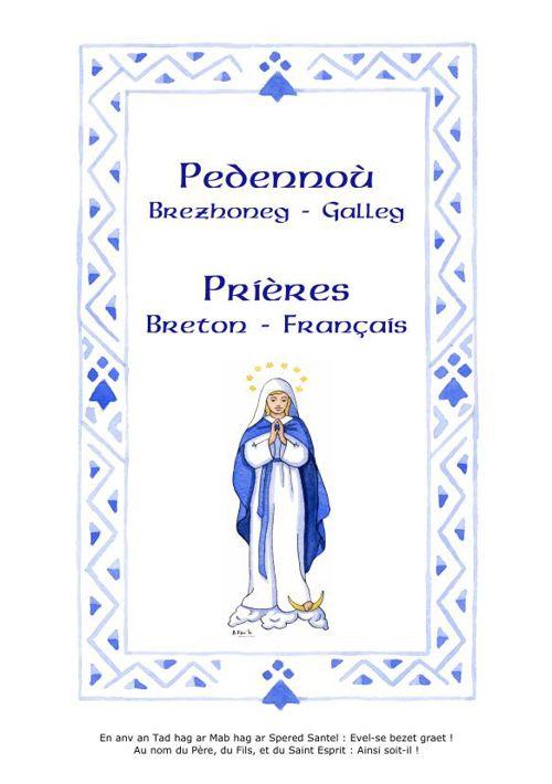 Levrig pedennoù brezhoneg galleg - Livret de prières breton fran