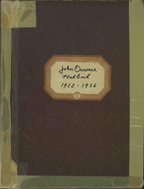 Plakboek John Ouwerx 1922-1936