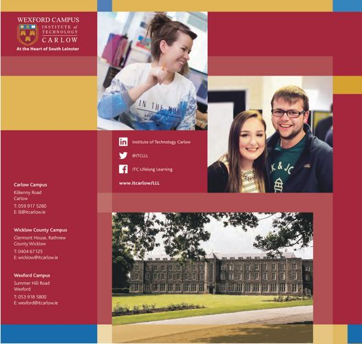 ITCarlow - Wexford Part-Time Prospectus 2017-2018