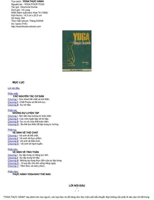 YOGA thuc hanh