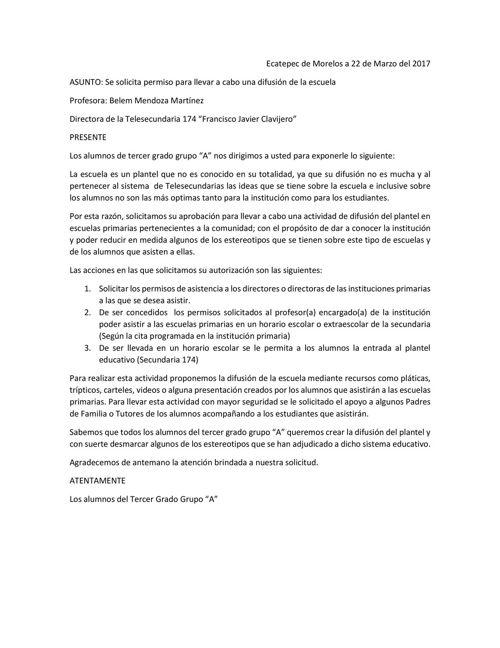 Carta de solicitud - para combinar