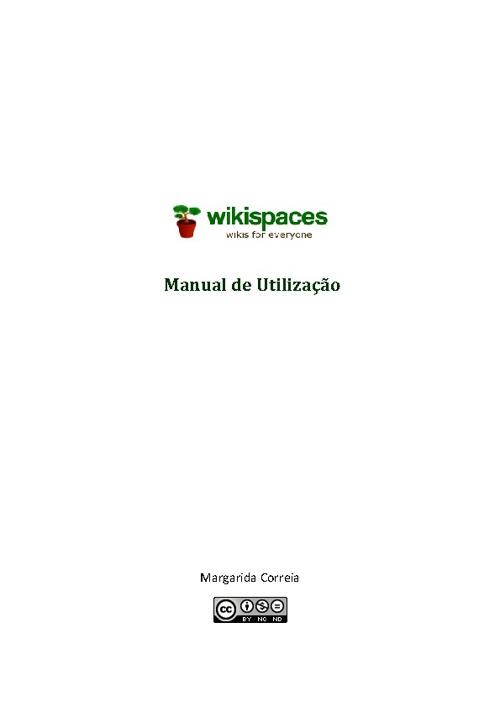 Wikispaces - Manual do Utilizador