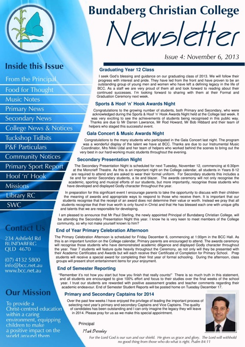 BCC Printable eNewsletter November 2013