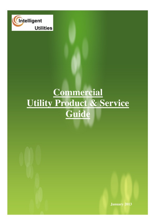Commercial Utility and Green Deal Product