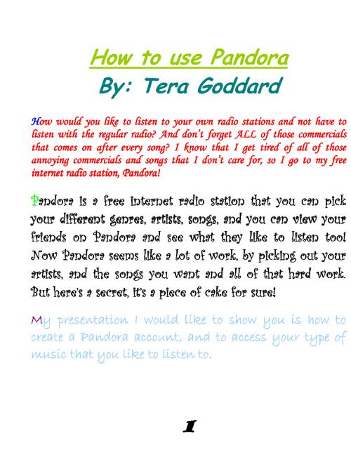 ~How to Make a Pandora Account~