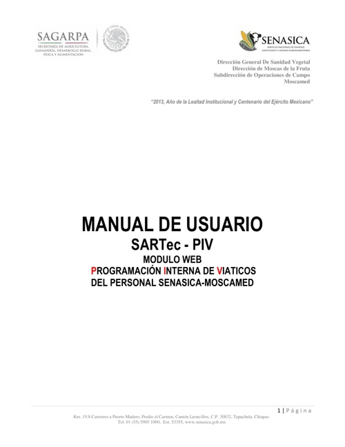 MANUAL DE USUARIO SARTec - PIV