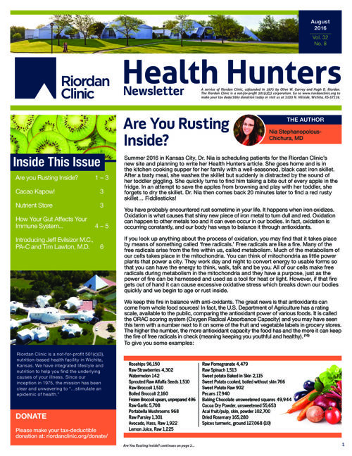 Health Hunters: August 2016