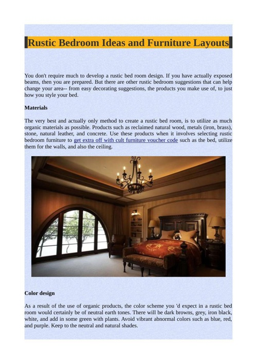 Rustic Bedroom Ideas and Furniture Layouts