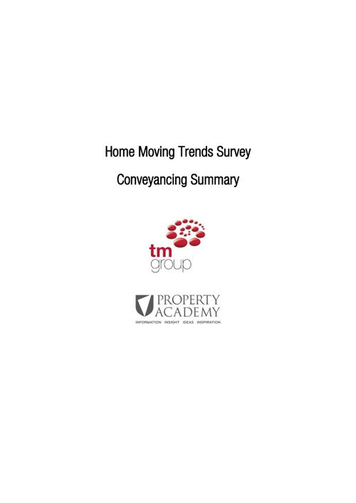 Home Moving Trends Survey 2013