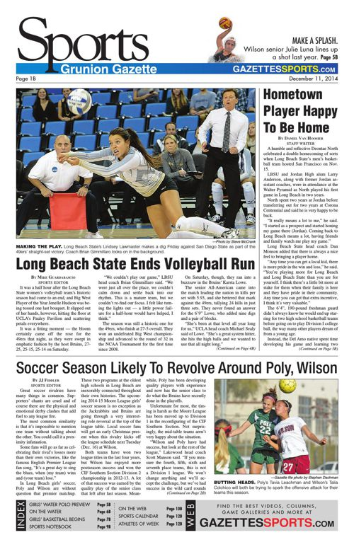Gazette Sports | December 11, 2014