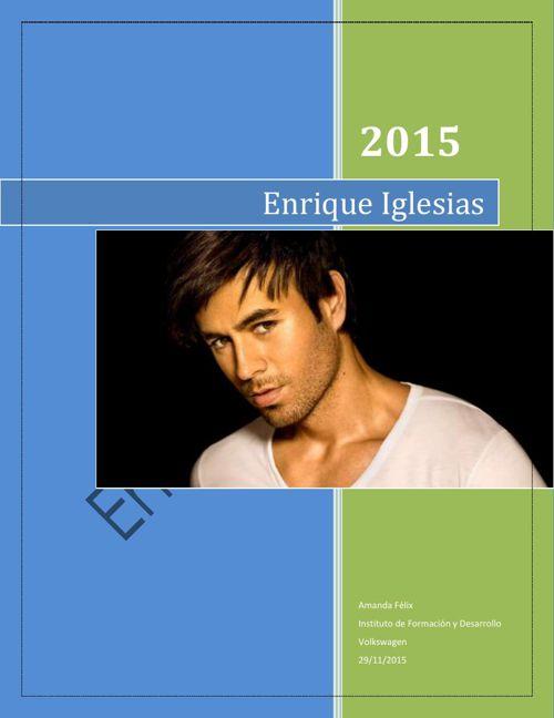 Enrique Iglesias listo