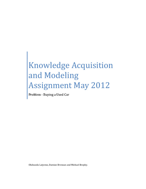 Knowledge Acquisition Assignment