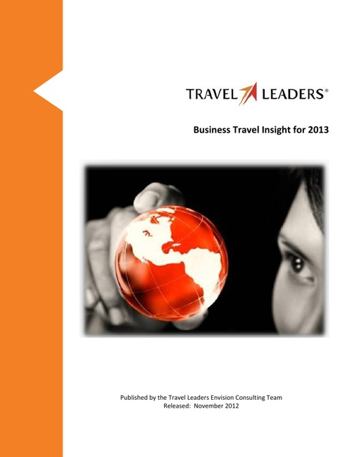 2013 Business Travel Forecast