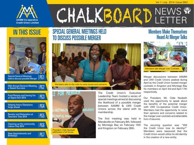 AAMM Chalkboard Newsletter_Issue#1