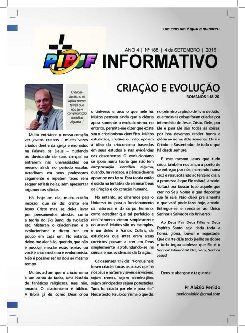 INFORMATIVO PIBJF 04.09.2016
