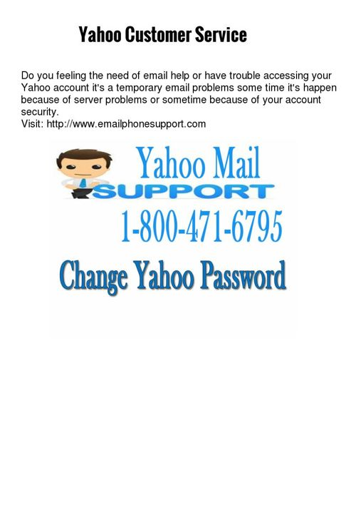 Yahoo customer care