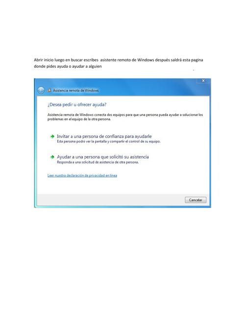 asistente remoto de windows