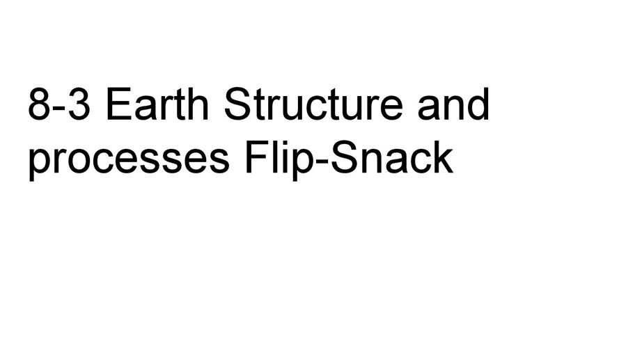 8-3 Earth Structure and processes Flip-Snack