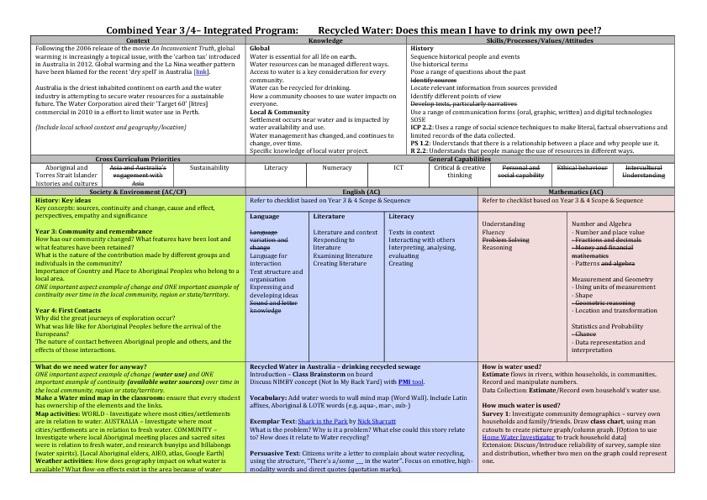 SOSE Planning Document