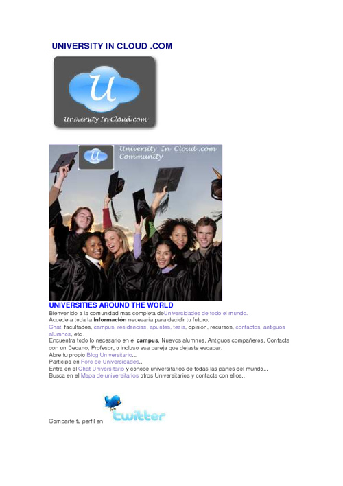 LAST NEWS EN www. UNIVERSITY IN CLOUD.com