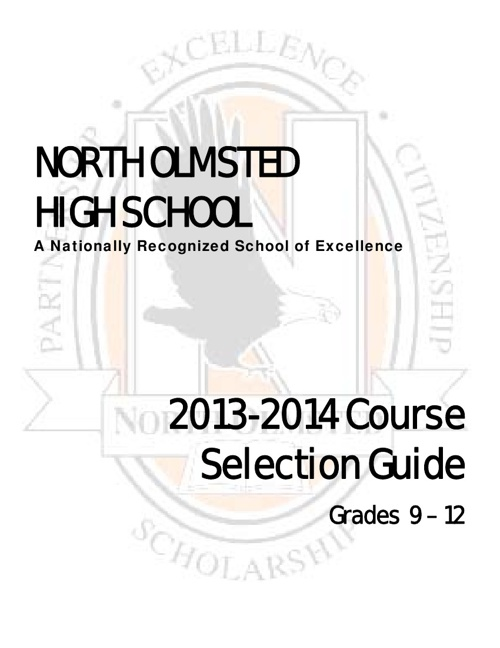 NOHS 2013/2014 Course Selection Guide