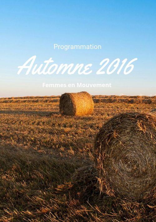 Programmation automne 2016