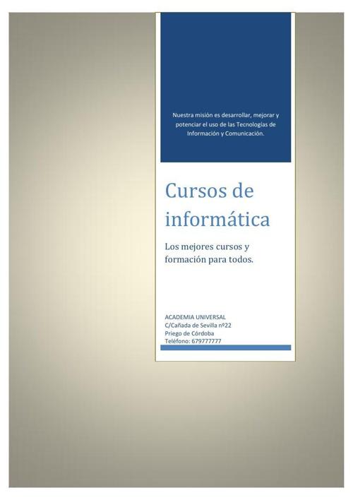 """Centro de Informática """"Academia Universal"""""""