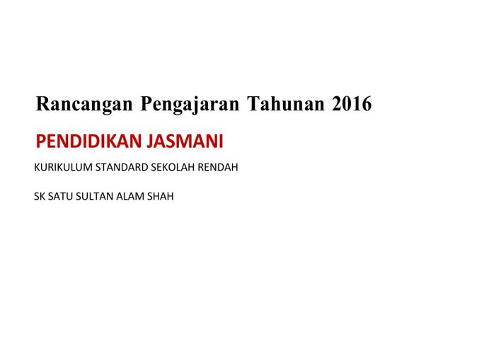 RPT KSSR PJ T6 2016