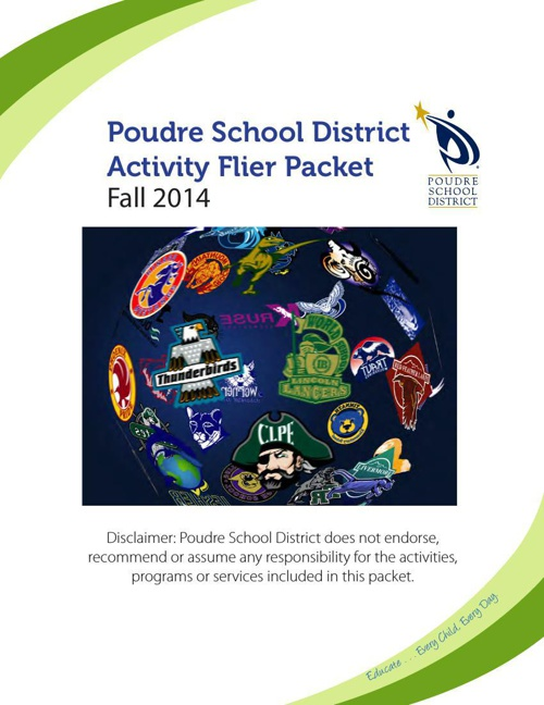 Fall 2014 PSD Activity Flier Packet