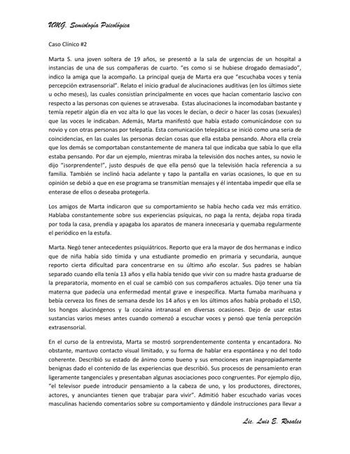 CASO DE MARTA
