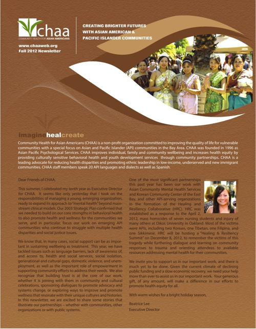 CHAA Web Newsletter 2012