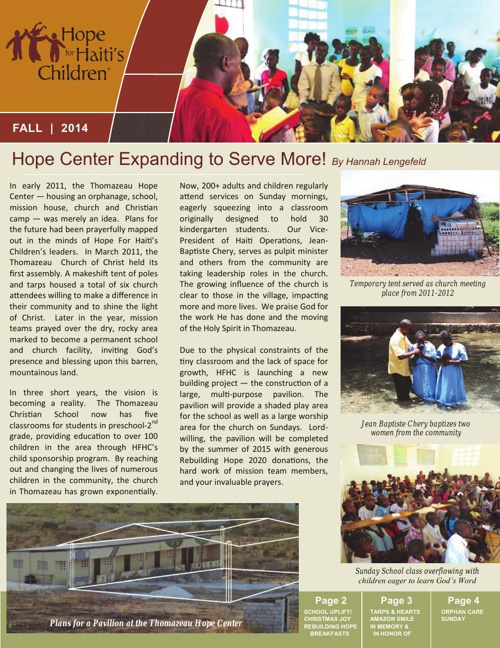 2014 HFHC Fall Newsletter