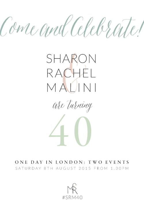 SRM 40TH Birthday Invite