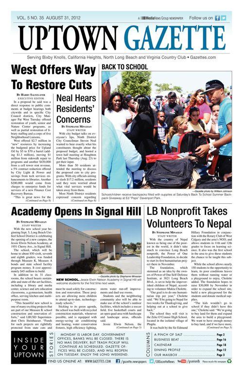 Uptown Gazette  |  August 31, 2012