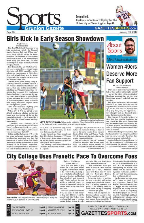 Gazette Sports   January 10, 2013