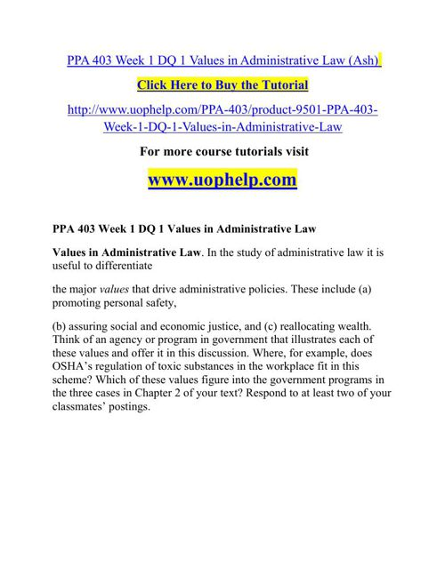 PPA 403 Instant Education/uophelp