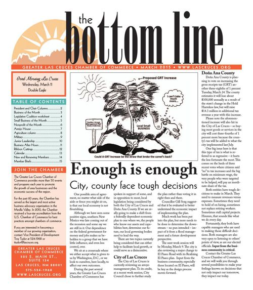 The Bottom Line March 2015