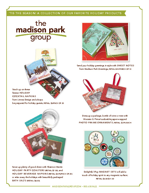 2011 Holiday Gift Guide from The Madison Park Group
