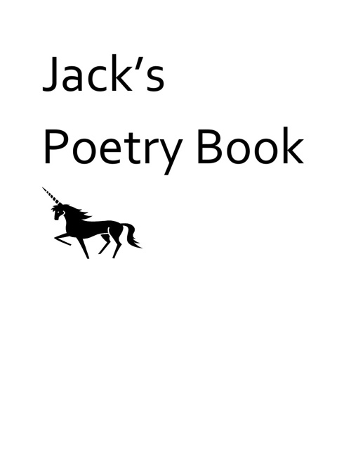 Jack Marcelains Poetry Book