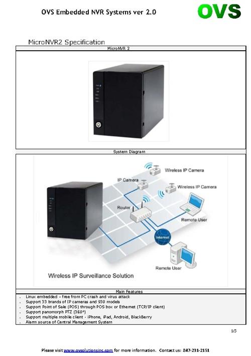 OVS_Micro-NVR Spec