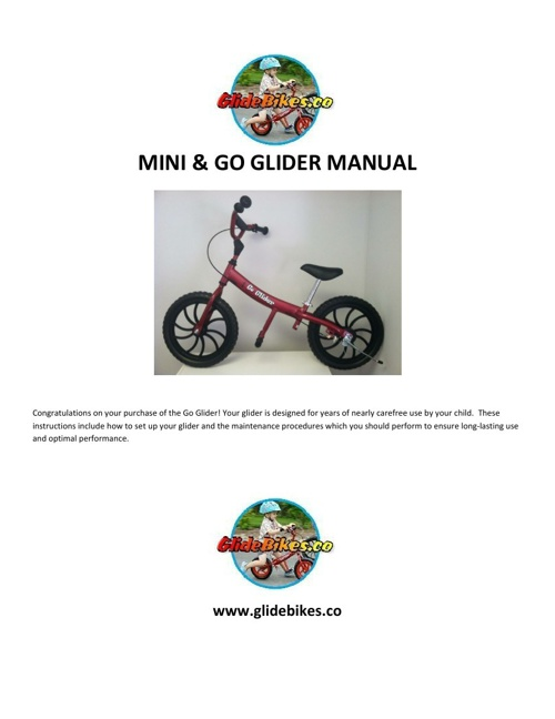 Mini - Go Glider - Manual - Assembly