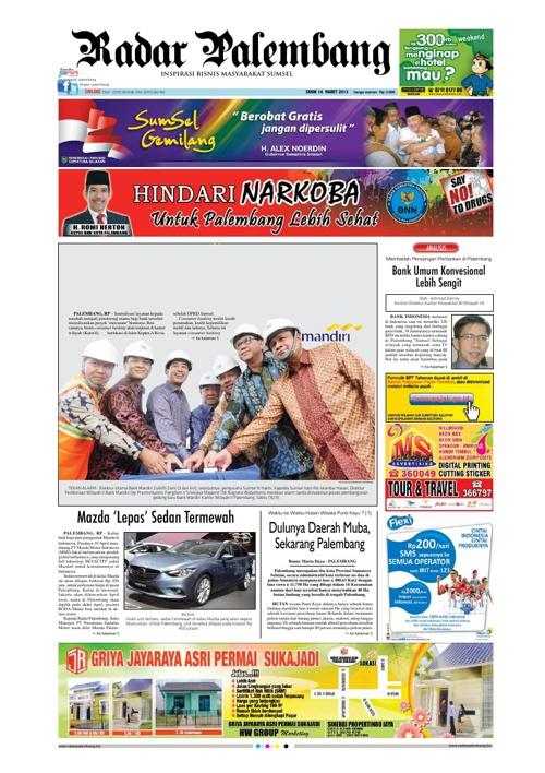 Radar Palembang Edisi 18-03-2013 Koran 1