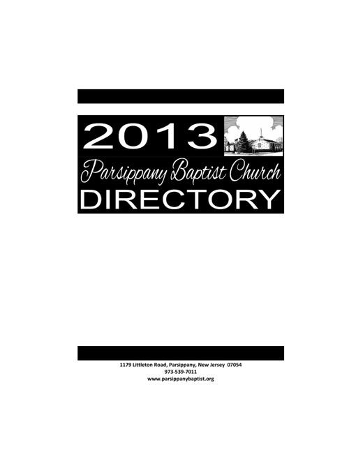 2013 Church Directory