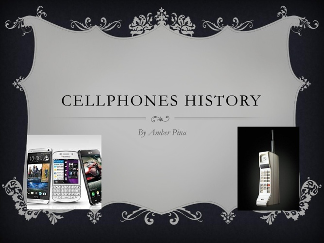 Cellphones History